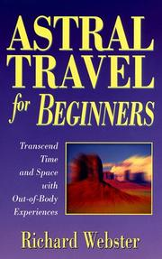 Cover of: Astral travel for beginners