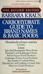 Cover of: Barbara Kraus 1988 Calorie guide to brand names and basic foods
