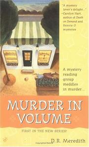 Cover of: Murder in volume