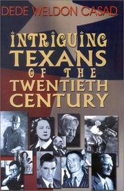 Cover of: Intriguing Texans of the twentieth century
