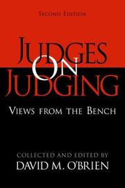 Cover of: Judges on judging