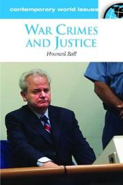 Cover of: War crimes and justice