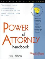 Cover of: Power of attorney handbook: with forms