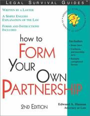 Cover of: How to form your own partnership: with forms