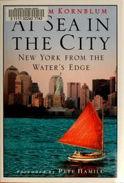 Cover of: At sea in the city: New York from the water's edge