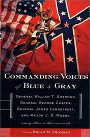 Cover of: Commanding voices of blue & gray