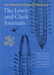 Cover of: The Lewis and Clark journals