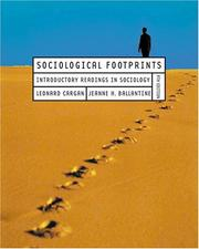 Cover of: Sociological footprints