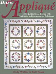 Cover of: Basic appliqué