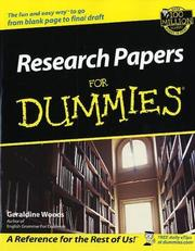 Cover of: Research papers for dummies