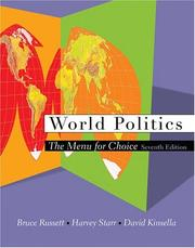 Cover of: World politics