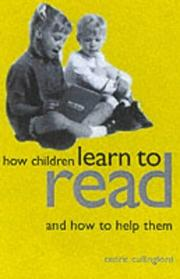 Cover of: How children learn to read and how to help them