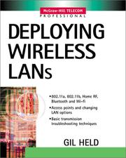 Cover of: Deploying wireless LANs