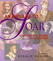 Cover of: An impulse to soar: quotations for women on leadership