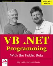 Cover of: VB.NET programming with the public beta