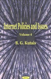 Cover of: Internet policies and issues