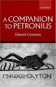 Cover of: A companion to Petronius