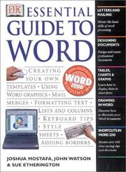 Cover of: DK essential guide to Word
