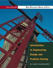 Cover of: Introduction to engineering design and problem solving
