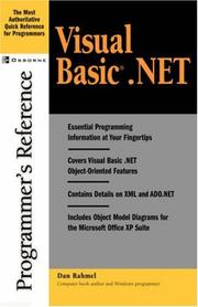 Cover of: Visual Basic.NET programmer's reference
