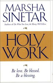 Cover of: Holy work