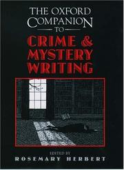 Cover of: The Oxford companion to crime and mystery writing