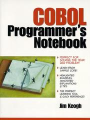 Cover of: COBOL programmer's notebook