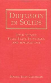 Cover of: Diffusion in solids