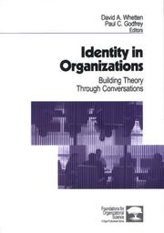 Cover of: Identity in organizations