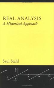 Cover of: Real analysis: a historical approach