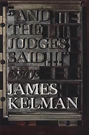"Cover of: ""And the judges said-- """
