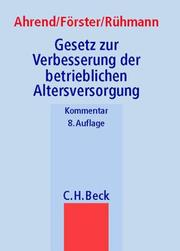 Cover of: Betriebsrentengesetz