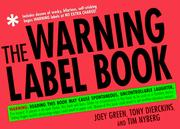 Cover of: The warning label book