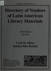Cover of: Directory of vendors of Latin American library materials