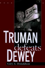 Cover of: Truman defeats Dewey