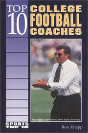Cover of: Top 10 college football coaches