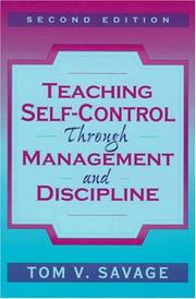Cover of: Teaching self-control through management and discipline