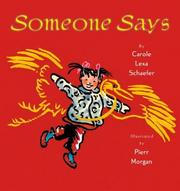 Cover of: Someone says