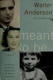 Cover of: Meant to be