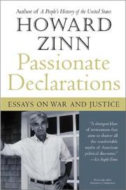 Cover of: Passionate declarations: essays on war and justice