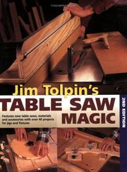 Cover of: Jim Tolpin's table saw magic