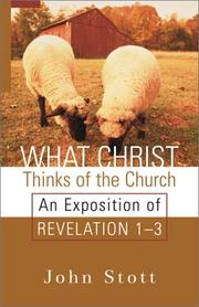Cover of: What Christ thinks of the church