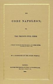 Cover of: The code Napoleon, or, the French civil code