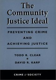 Cover of: The community justice ideal