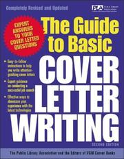 Cover of: The guide to basic cover letter writing