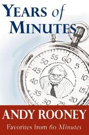 Cover of: Years of minutes