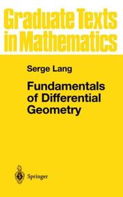 Cover of: Fundamentals of differential geometry