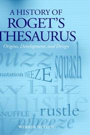 Cover of: A history of Roget's thesaurus