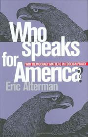 Cover of: Who speaks for America?