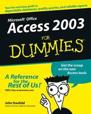 Cover of: Access 2003 for dummies